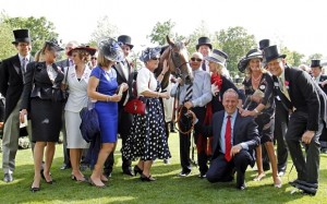 Mandatory Credit: Photo by racingfotos.c/REX Shutterstock (4849523dd)  TRIP TO PARIS with trainer Ed Dunlop (right) and owners The La Grange Partnership after The Gold Cup at Royal Ascot  Horse Racing - 17 Jun 2015