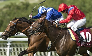 Muthmir (blue cap) lands his second Group 2 under Paul Hanagan   PICTURE: Edward Whitaker (racingpost.com/photos) Muthmir lands George under inspired Hanagan   BY LYDIA SYMONDS 3:46PM 31 JUL 2015   Report: Goodwood, Friday Qatar King George Stakes (Group 2) 3yo+ 5f MUTHMIR put in an impressive performance to deny last year's winner Take Cover and land the valuable Group 2 under an inspired ride by Paul Hanagan.