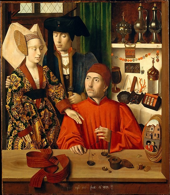 "A Goldsmith in his Shop Petrus Christus (Netherlandish, Baarle-Hertog (Baerle-Duc), active by 1444–died 1475/76 Bruges) Date: 1449.  Photo: courtesy of the Metropolitan Museum of Art. A new exhibition at the Cloisters in Manhattan, ""Treasures and Talismans: Rings From the Griffin Collection,"" put together by C. Griffith Mann, curator of the Department of Medieval Art and the Cloisters, explores the subtle meanings behind beloved pieces of jewelry. A number of ancient and medieval rings, on long-term loan to the museum, are shown in a wider historical and cultural context in the exhibition. Displayed alongside the jewels is a curated selection of paintings and sculptures borrowed from the museum's Greek and Roman Art, European Paintings, and Robert Lehman Collection."