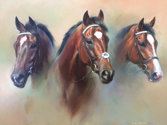 "Frankel Painting To Be Sold For Charity At Tattersalls December Sale A painting by renowned equestrian artist Jacqueline Stanhope called 'Brothers In Arms' is to be sold for Charity on Monday 30th November at the Tattersalls December Sale. The painting, depicting the incomparable FRANKEL alongside his brothers NOBLE MISSION and BULLET TRAIN, both now standing at stud in America, is to be sold in aid of the 'Friends of the Newmarket Day Centre'. The charity, whose President is Julie Cecil, has been established in Newmarket for 34 years and specialises in care for the elderly in Newmarket and the surrounding area. 'Brothers In Arms' by Jacqueline Stanhope 'Brothers In Arms' by Jacqueline Stanhope Chairman of the Charity Nigel Wright said; ""Newmarket Day Centre provides an essential service to the local community and we are delighted to have this opportunity to raise valuable funds for the charity. FRANKEL and his brothers NOBLE MISSION and BULLET TRAIN are all out of the great Juddmonte mare KIND, and were all trained in Newmarket by Sir Henry Cecil and Lady Cecil, who won three Group 1 races with NOBLE MISSION. The Tattersalls December Sale will provide a great stage to sell Jacqueline Stanhope's tribute to Prince Khalid Abdullah's truly extraordinary FRANKEL and his illustrious brothers."" The painting will be offered immediately prior to lot 1603, NEW ORCHID, the first of the Juddmonte draft of broodmares selling on Monday 30th November, and can be viewed in the Juddmonte Tent at Park Paddocks prior to the sale. For further information please contact Nigel Wright, Tel: 07802 699145."