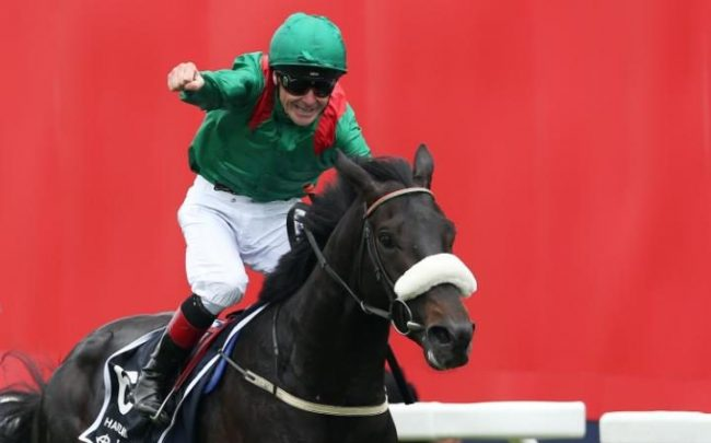 Pat Smullen rides Harzand to victory CREDIT: REUTERS list of article image 2 Sponsored New film jam-packed with celebrities Jennifer Aniston and Kate Hudson are two of the stars of the film. Read more › Alistair Tweedale 4 JUNE 2016 • 5:33PM 5:33pm A great day for Dermot Weld and his winner, Harzand Two-time Melbourne Cup winning trainer Dermot Weld won the Epsom Derby for the first time on Saturday with Harzand, who had been a doubtful runner earlier in the day. Harzand, a fifth winner for owner The Aga Khan equalling his grandfather's tally, held off a late challenge by favourite US Army Ranger.