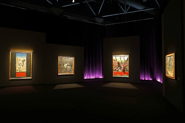 "Installation shot of ""Francis Bacon: Monaco and French Culture"" at the Grimaldi Forum, Monaco. Photo ©JC Vinaj/Grimaldi Forum."