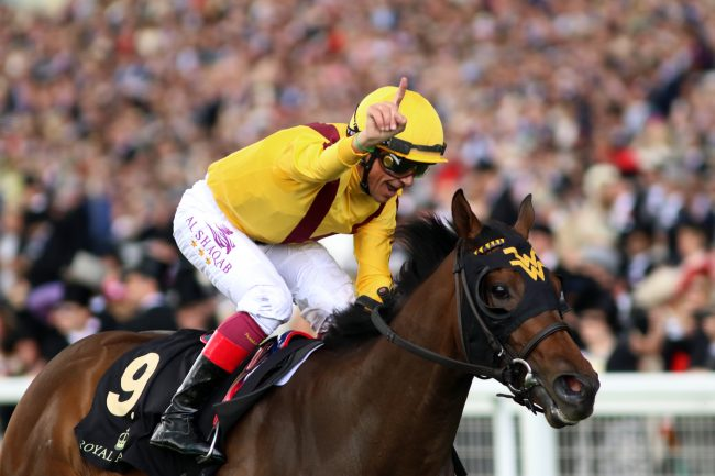 Frankie Dettori up on Lady Aurelia at Queen Mary Stakes Royal Ascot 15th June 2016