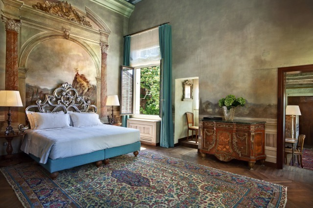 Villa F, Italy Situated in an historic building on the island of Guidecca, Villa F offers a taste of 17th-century Venetian noble life with unsurpassed luxury. The hidden oasis is perfect for those looking to live like a royal in Venice and offers 11 residences with hotel service including a private concierge and butler privileges. Each residence is decorated to maintain the villa's tradition and character, with original wall frescos and Italian wood floors. The Private Concierge provides VIP amenities, access to exclusive events and venues, and unrivalled expertise for once-in-a-lifetime experiences in the city. Prices start from €1,200 per night.